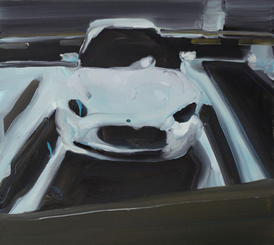 White Monster, 70x 80cm, oil on canvas, 2016