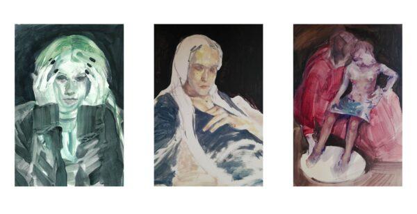 Barbara De Vivi, Disegni_dall'archivio_30x20 each_2020_oilonpaper