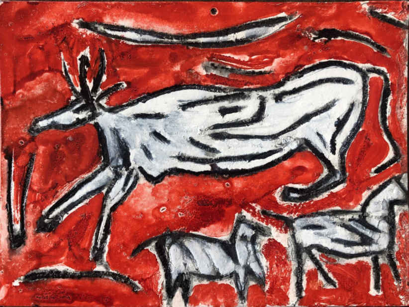Giorgio Piccaia, Tre animali, 2018, inchiostro su cartone, cm 21x28