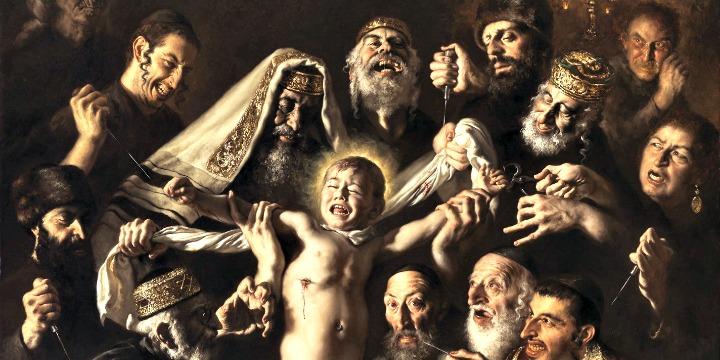 La funerea creatività di Giovanni Gasparro nel suo quadro antisemita