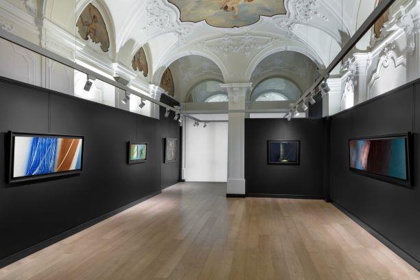 Installation view della mostra Hans Hartung, Mazzoleni, Torino, 2019 © Sebastiano Pellion, Torino