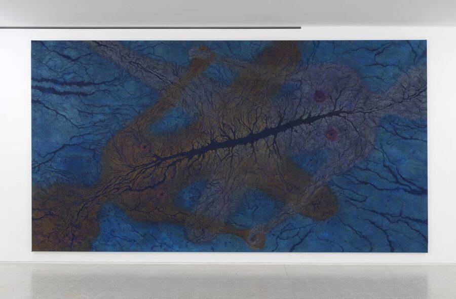 LUISA RABBIA. LOVE, 2016 Matite colorate su acrilico su tela. 274×513 cm Collezione Maramotti, Reggio Emilia. Courtesy Peter Blum Gallery, NY. Foto Dario Lasagni