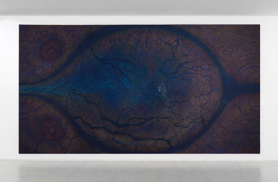LUISA RABBIA. BIRTH, 2017 Matite colorate su acrilico su tela. 274×513 cm Collezione Privata. Courtesy Peter Blum Gallery, NY. Foto Dario Lasagni