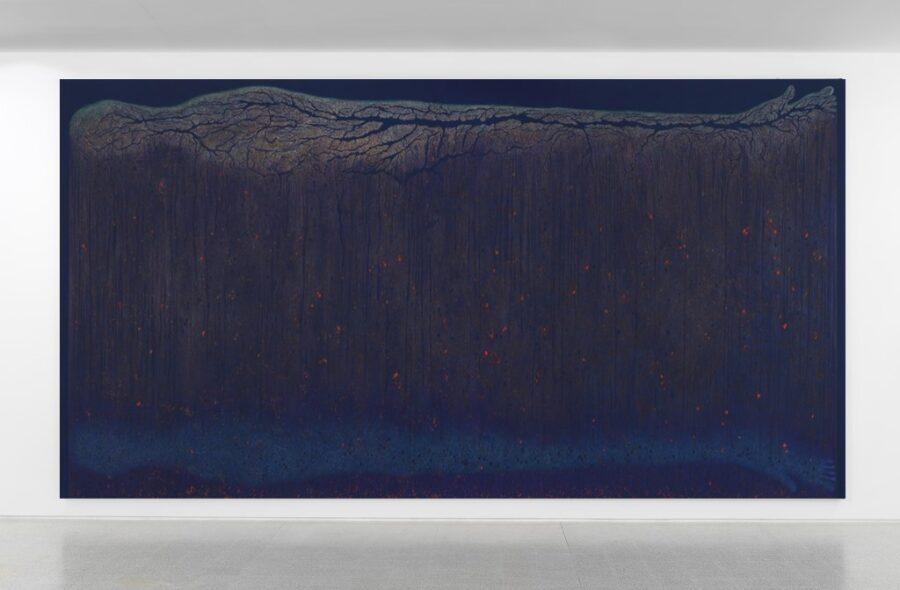 LUISA RABBIA. DEATH, 2017 Matite colorate su acrilico su tela. 274×513 cm Collezione Privata, Zug, CH. Courtesy Peter Blum Gallery, NY. Foto Dario Lasagni