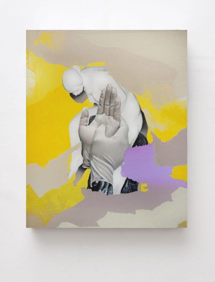 Martinucci, acrilico e grafite su tela, 40x50x4cm 2019 Courtesy Collezione Privata