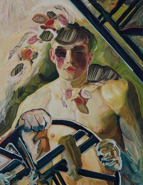 Maurizio Bongiovanni,Self-driving, 2019, oil on canvas, 115x150cm