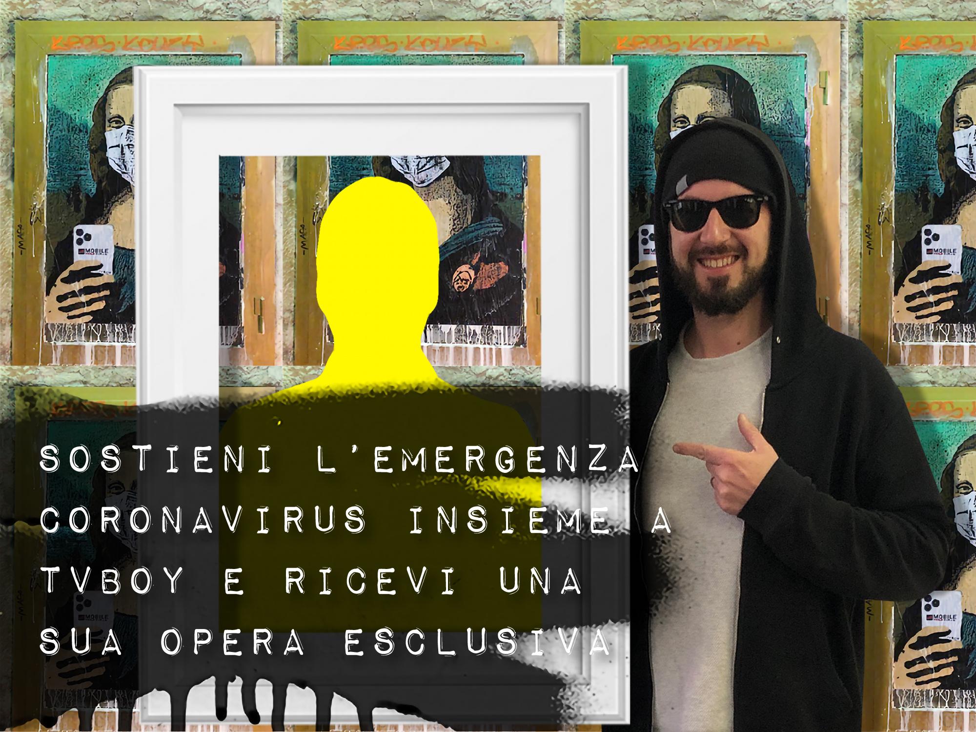 Street Art VS coronavirus. Tvboy per la Fondazione Ronald McDonald