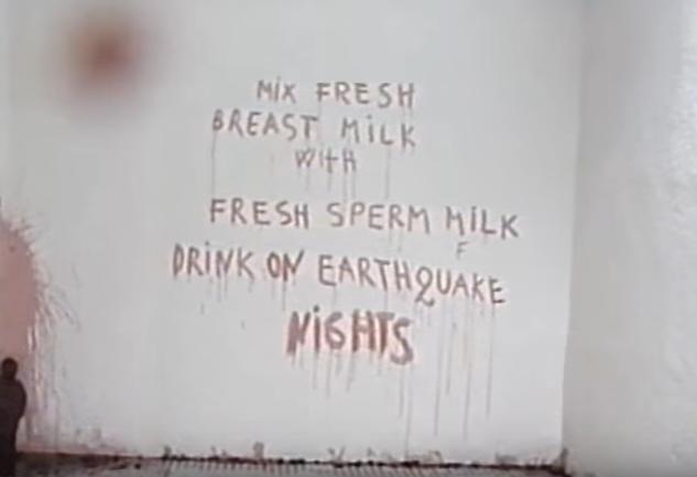 Scritta con sangue di maiale di Abramović