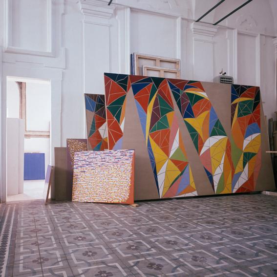 Lo studio di Piero Dorazio ritratto da Aurelio Amendola