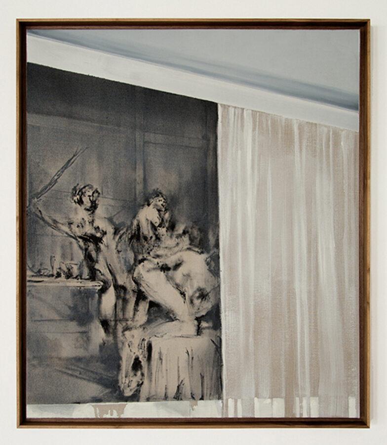 Banquet 2018 olio su tela 105 x 89 cm collezione privata courtesy The Gallery Apart