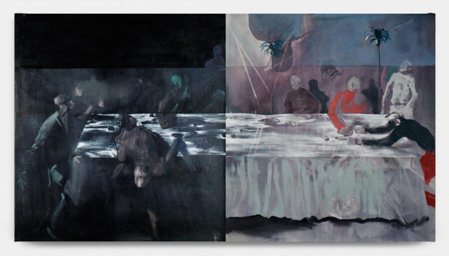 Banquet (dittico) 2018 olio su tela 121 x 105 cm ciascuno courtesy The Gallery Apart
