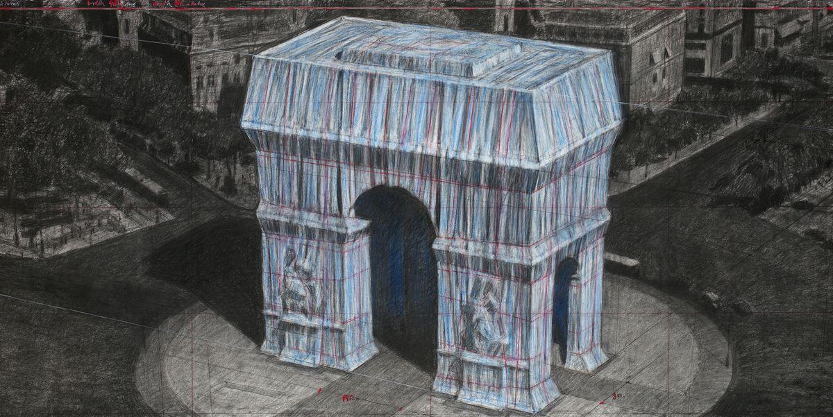 """Arco di Trionfo """"confezionato"""": slitta al 2021 la spettacolare performance di Christo a Parigi"""