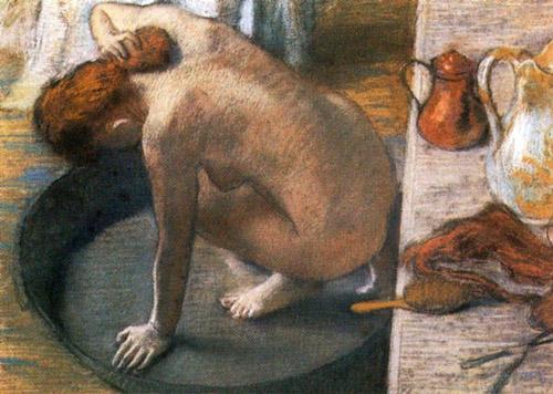 Edgar Degas, La tinozza, pastello, 1886., Musée d'Orsay
