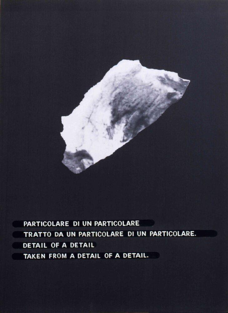 Emilio Isgrò, Particolare, 1972