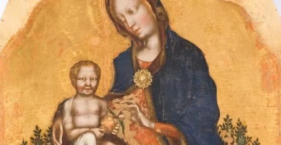 Madonna col Bambino in trono circondata da angeli, Gentile da Fabriano