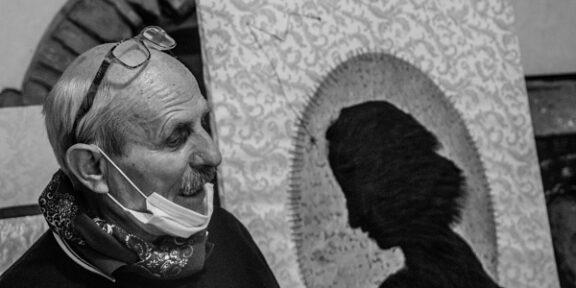 Giuseppe Leone nel suo atelier, maggio 2020 © Luigi Salierno