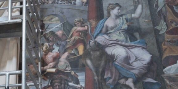 La Iustitia dipinta ad olio da Raffaello