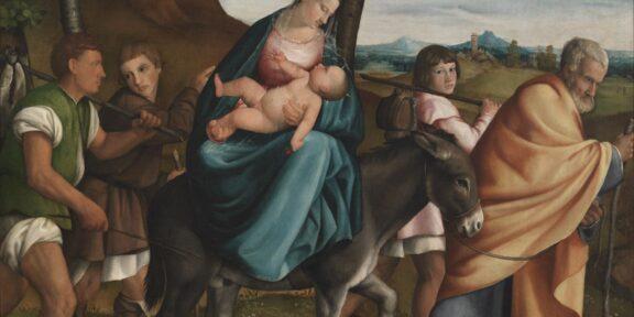 Jacopo Da Ponte, Fuga in Egitto Secolo XVI (1534) Olio su tela, 183 x 198 cm