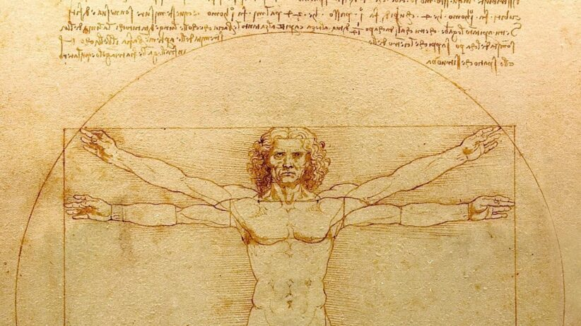 L'Uomo vitruviano, Leonardo da Vinci