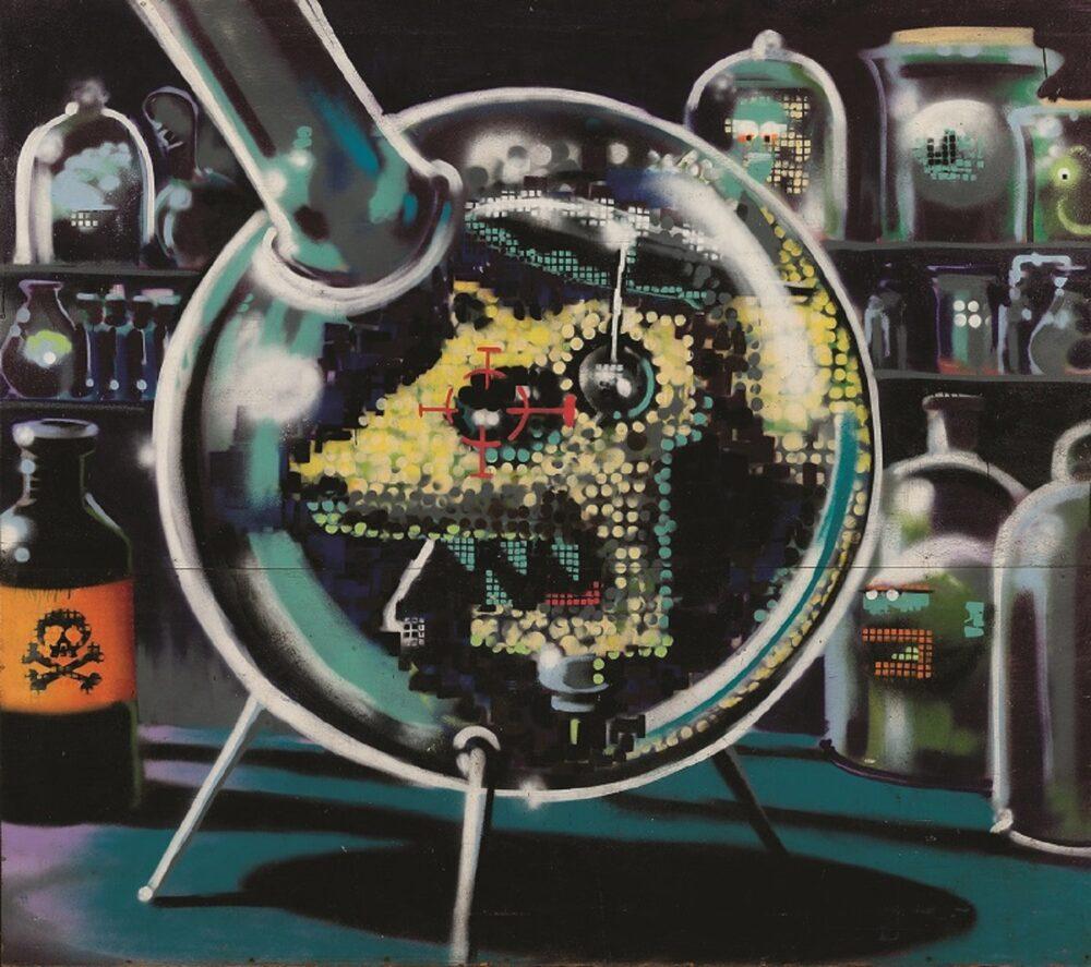 Lab Rat 2000 spray e acrilici su compensato marino e cornice in metallo, 220x240x12 cm Brentwood (UK), Brandler Galleries, BGi/03