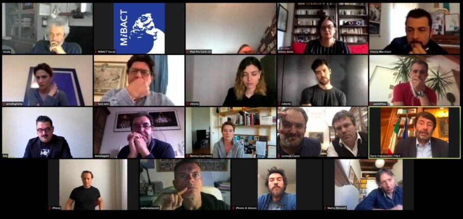 L'incontro virtuale del Mibac con attori, registi, cantanti