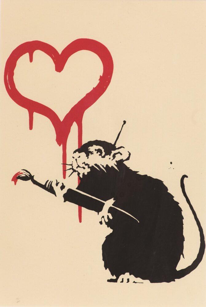 Love Rat 2004 serigrafia su carta, 50x35 cm Collezione privata
