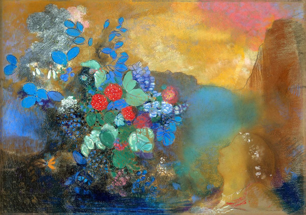 """Cinque minuti di meditazione attraverso """"Ofelia tra i fiori"""" di Odilon Redon"""