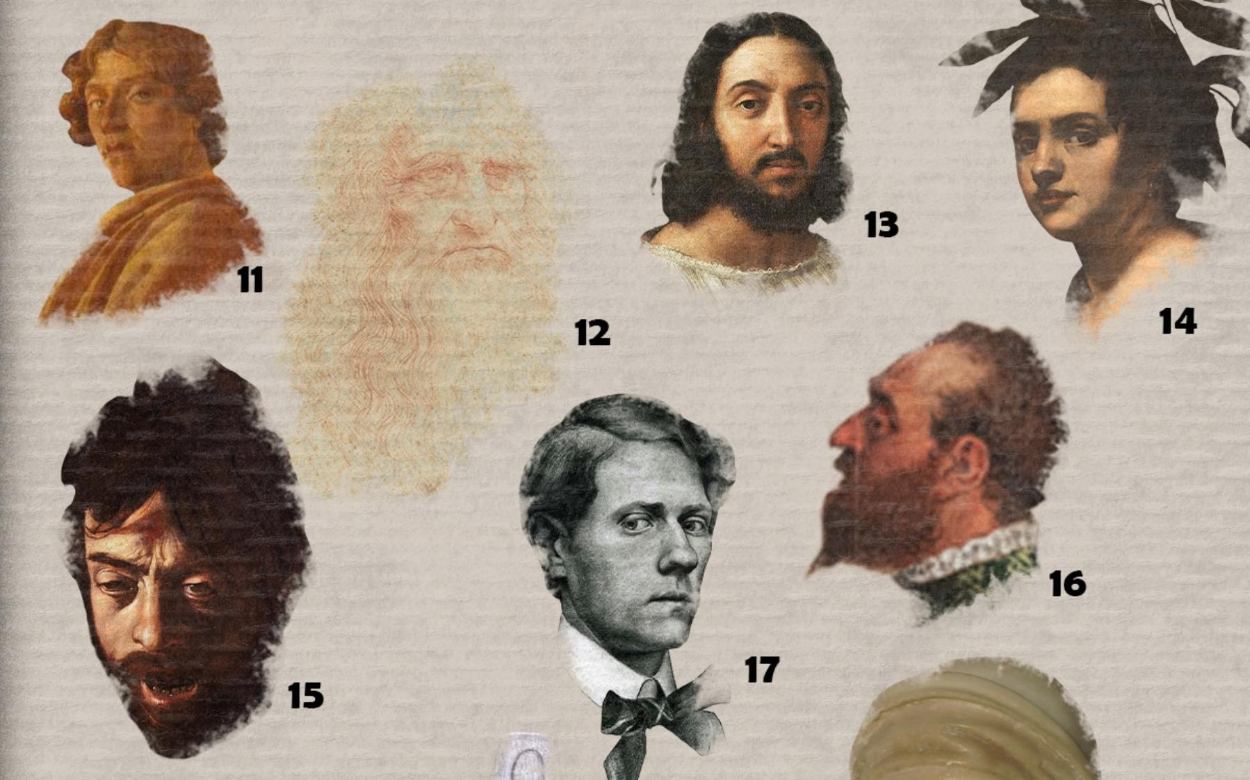 Chi sono gli artisti ritratti (o autoritratti) in queste opere? Ecco il nuovo gioco digitale del MiBACT