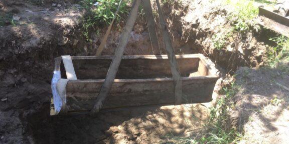 Sarcofago rinvenuto in Via di Castel Fusano