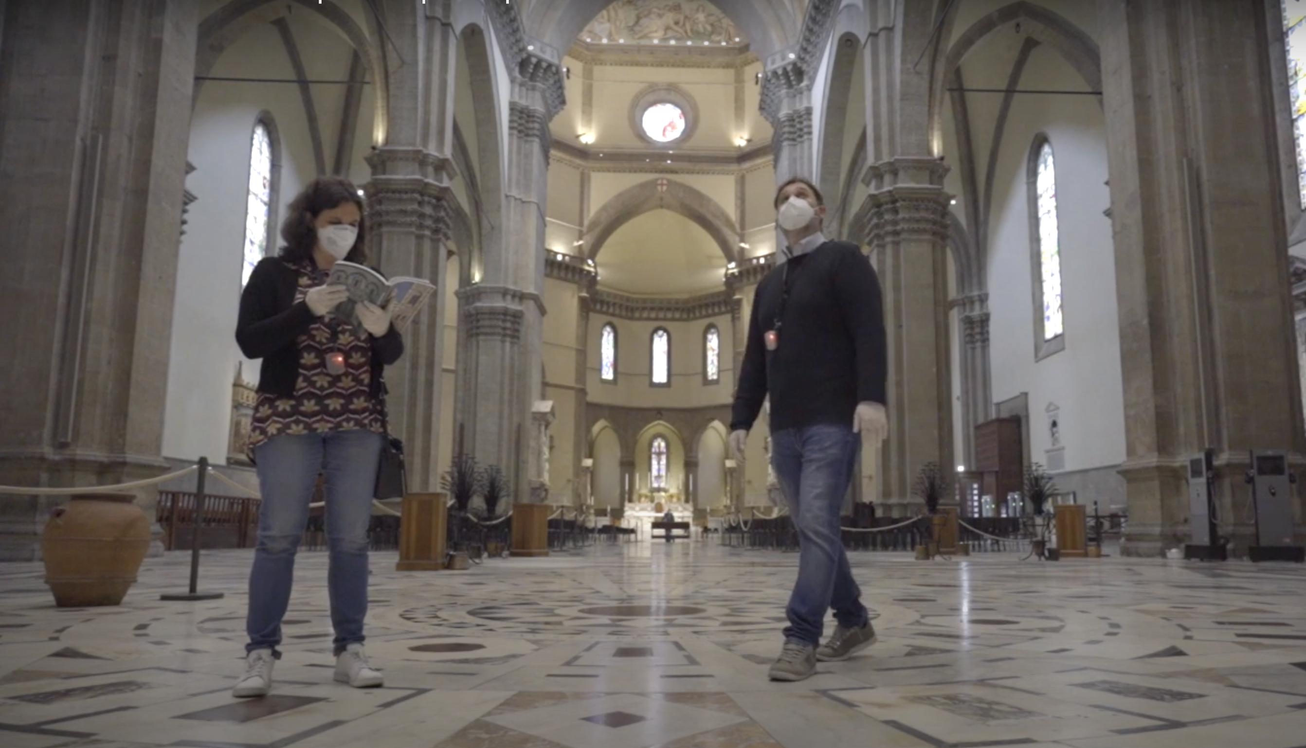 Visite in sicurezza: nel Duomo di Firenze un dispositivo garantisce le distanze tra visitatori