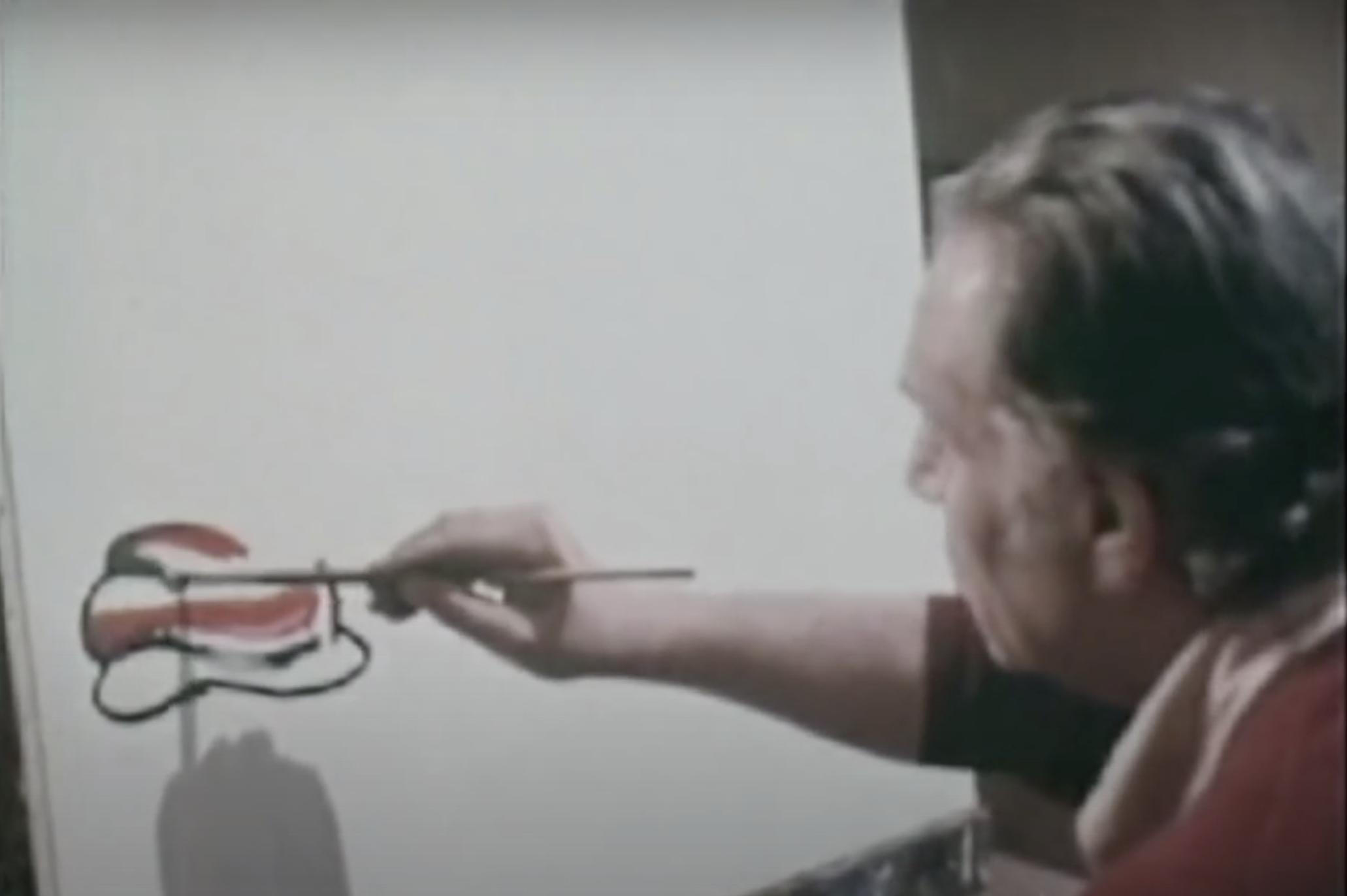 Come nasce un'opera d'arte: Guttuso dipinge i peperoni davanti alle telecamere della Rai