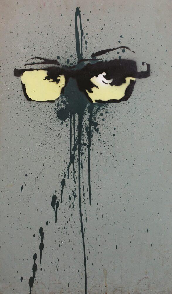 Self-Portrait 2001-2002 spray e schizzo di smalto, acrilico su tavola, 74x55 cm London (UK), Ali Keshavji collection, inv. 9236