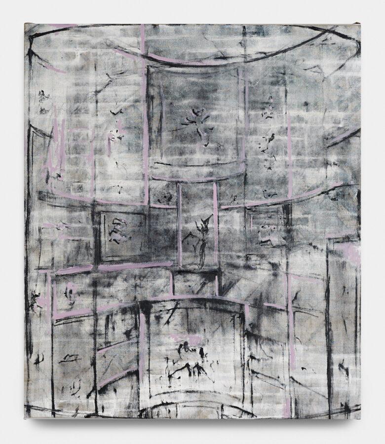Siparietto delle muse 2019 olio su tela 94 x 83 cm courtesy The Gallery Apart