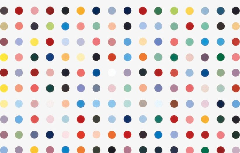 Uno Spot Painting di Damien Hirst