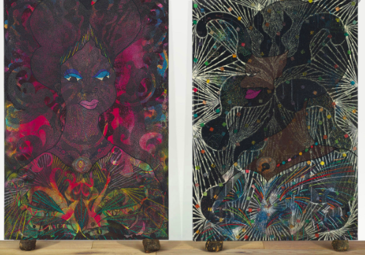 Chris Ofili, Untitled Diptych, 1999 Source: Christie's