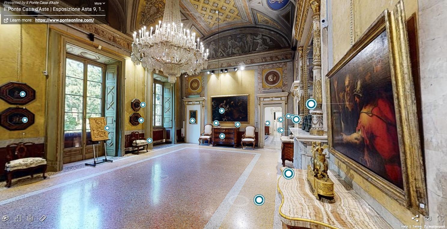 Arredi e dipinti antichi a 360°: al via l'esposizione 3D de Il Ponte