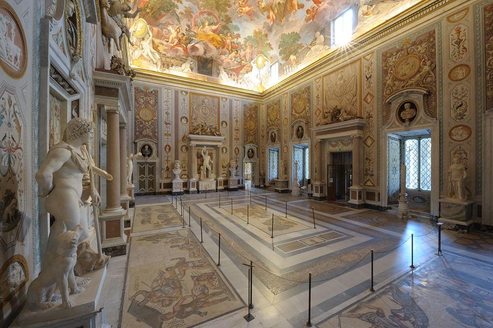 Salone di Mariano Rossi, Galleria Borghese. Ministero per i beni e le attività culturali e per il turismo.