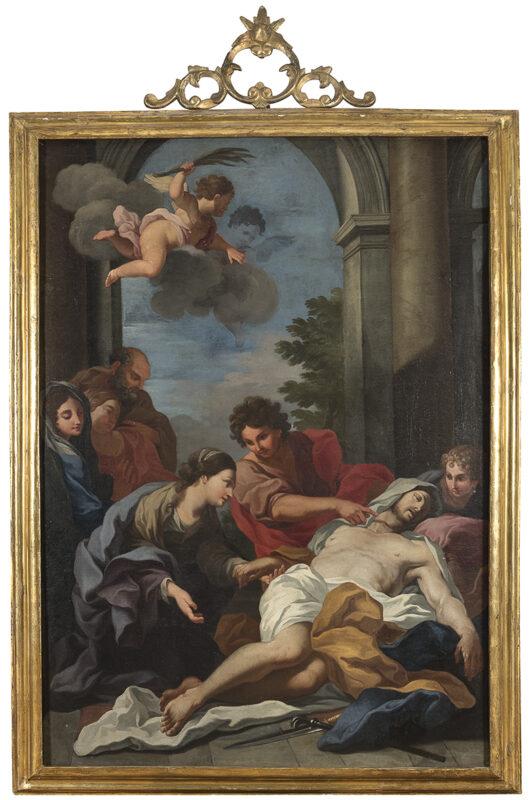 Lotto 67 - Ludivico Gimignani (Roma 1643 - Zagarolo 1697)Ritrovamento del corpo di San Marco. Olio su tela, cm. 173 x 121. Stima 10.000-15.000 euro
