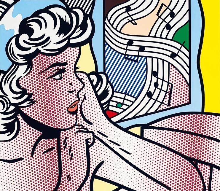 "Roy Lichtenstein e il nudo femminile: la storia di ""Nude with joyous painting"""