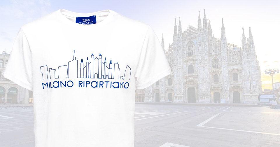 """""""Milano Ripartiamo"""". Una maglietta per aiutare le attività commerciali colpite dal covid 19"""