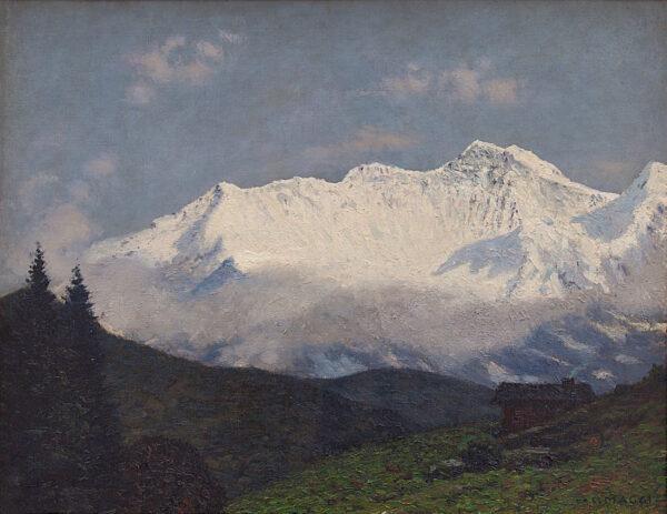 Lotto 20- Cesare Maggi, Prime luci sul monte Rosa. Stima 9.000-10.000 euro