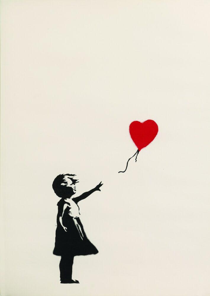 Banksy - Girl with Balloon 2004-2005 serigrafia su carta / silkscreen print 76x56 cm Collezione privata / Private collection