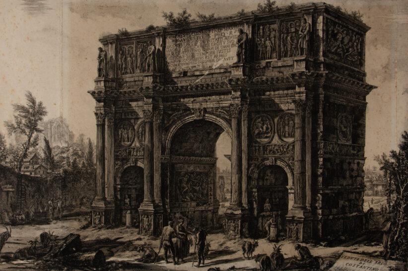 Giambattista Piranesi: Arco di Costantino. Acquaforte 47,7 x 71,2
