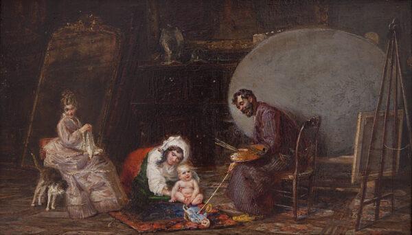Lotto 76 - Tommaso De Vivo, lo studio del pittore. Stima 3.500-4.000 euro