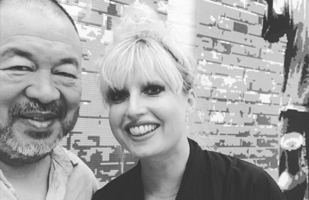 Angela Gulbenkian con Ai Weiwei