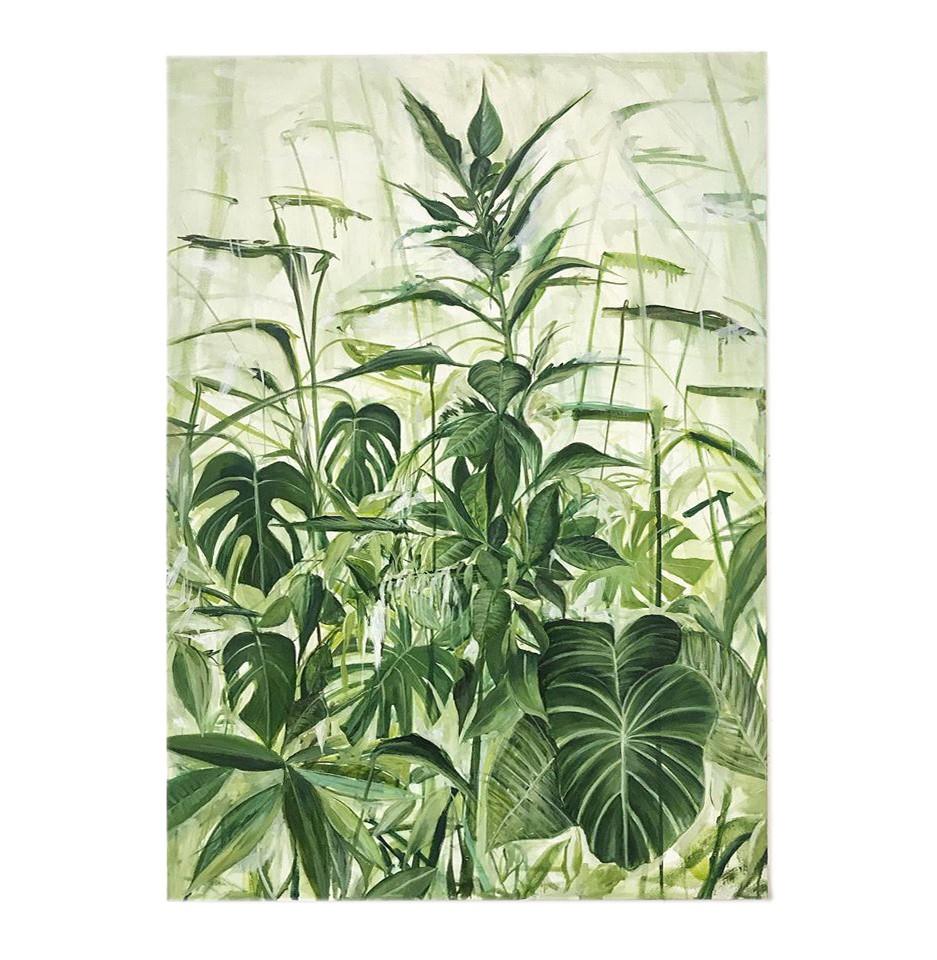 Antonio Bardino - Domestic landscape, 2020, olio su tela, 100 x 70 cm