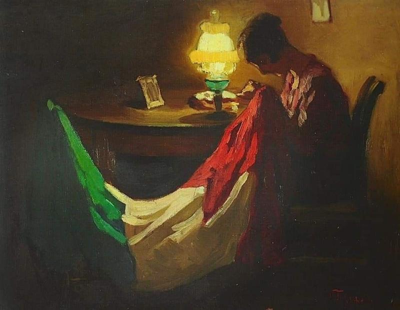 Il tricolore rammendato. Compie cento anni il dipinto simbolo della ...