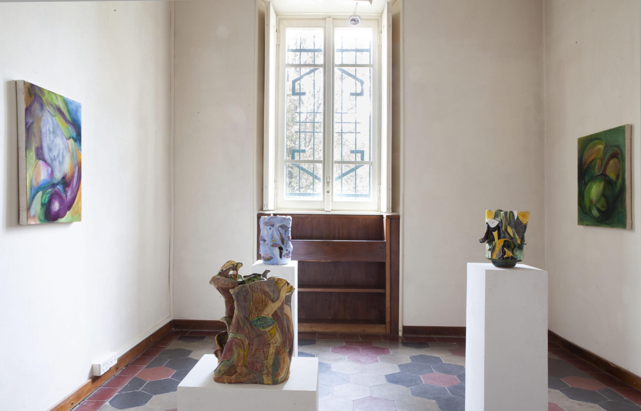 Casa Testori lancia Chang'e-4: pittura e scultura dialogano nella mostra della ripartenza