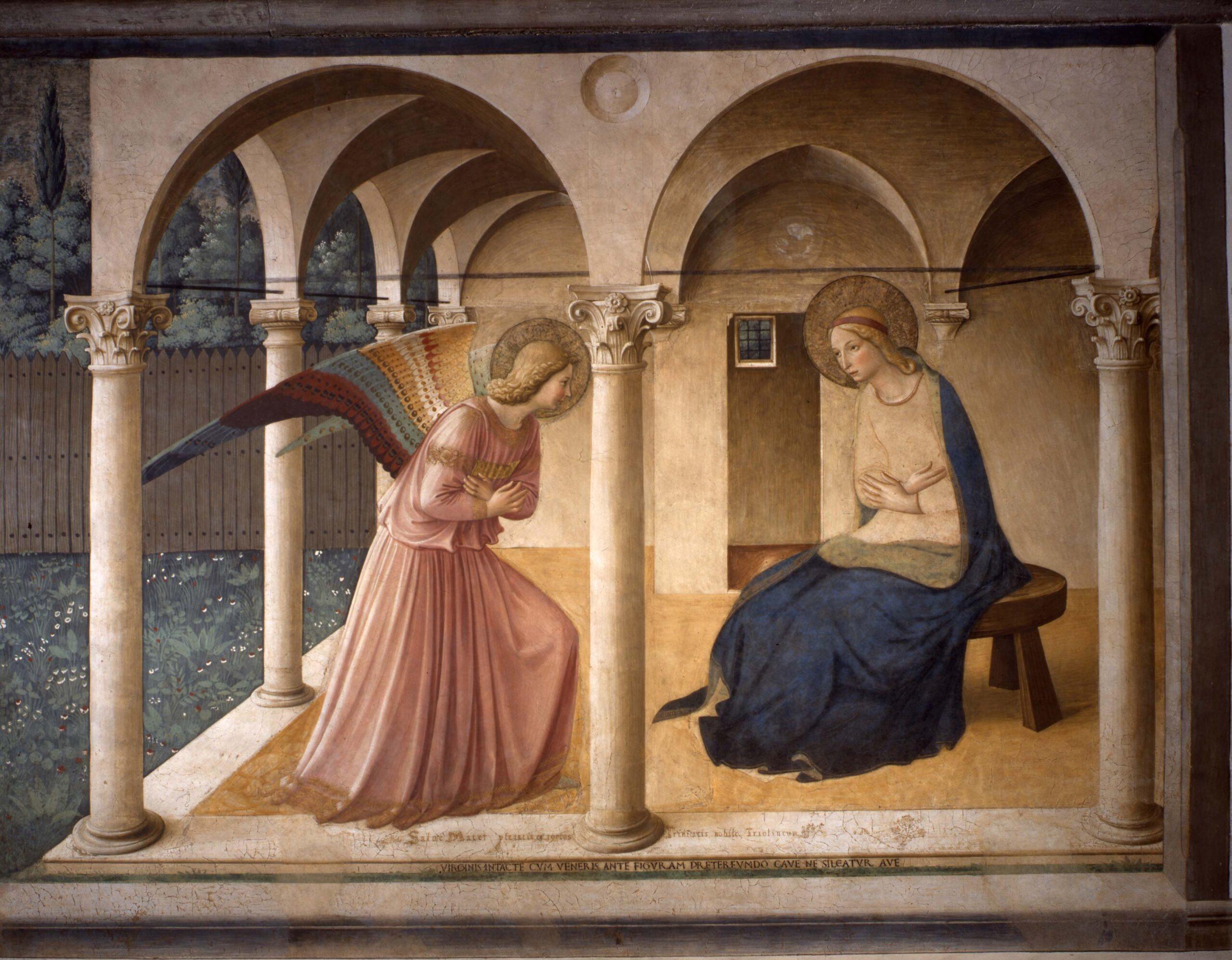 Ha riaperto oggi il Museo di San Marco a Firenze. Riecco la superba Annunciazione di Beato Angelico
