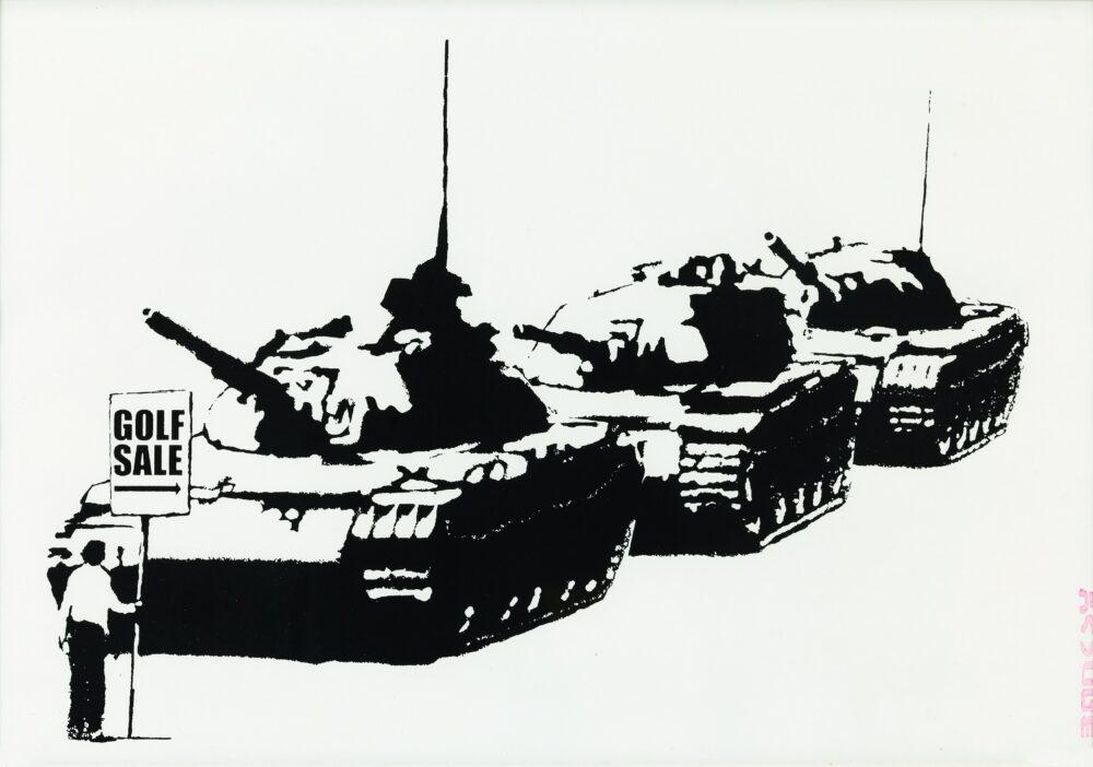 Banksy -Golf Sale 2003 serigrafia su carta / silkscreen print 35x50 cm Collezione privata / Private collection